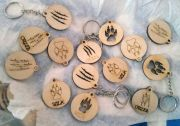 plywood keyrings